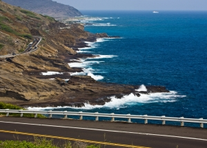 Scenic drive off Oahu's east shore