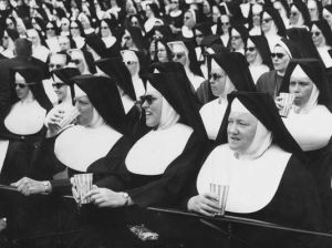 nuns at ballgame