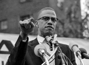 Malcolm X speaks in Harlem-a