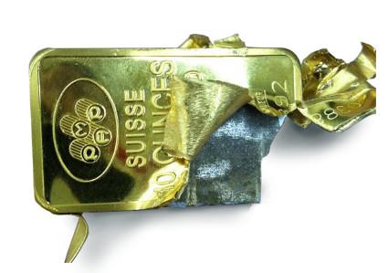 Fake gold bar tungsten