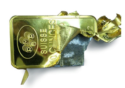 Fake gold bar tungsten
